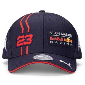 Red Bull Racing Pilote Cap Albon bleu marine