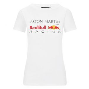 Red Bull Racing T-Shirt Logo Damen weiß