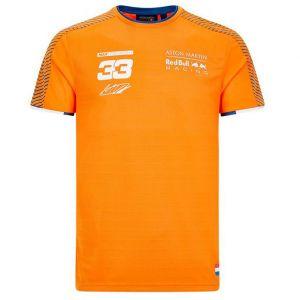 Red Bull Racing Maglietta per fan arancione del pilota Verstappen