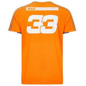 Red Bull Racing T-Shirt du ventilateur du conducteur Verstappen orange