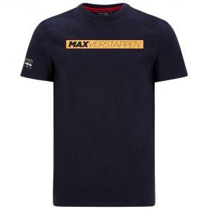 Red Bull Racing Pilote T-Shirt graphique Max Verstappen bleu foncé