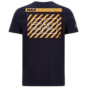 Red Bull Racing Pilote T-Shirt Graphic Max Verstappen bleu foncé
