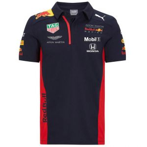 Red Bull Racing Team Sponsor Polo bleu marine