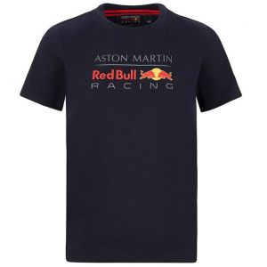 Red Bull Racing Fan Logo Maglietta bambini blu navy