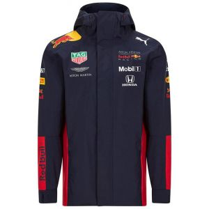 Red Bull Racing Team Sponsor Regenjacke Marineblau
