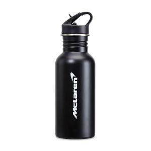 McLaren F1 Botella de agua de acero inoxidable negra