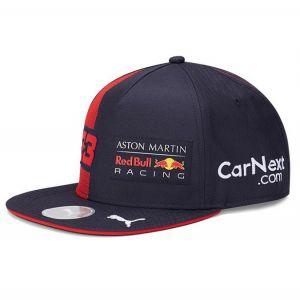 Red Bull Racing Pilote Cap Verstappen Flat Brim bleu marine