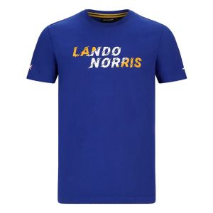 McLaren F1 Fahrer Grafik Kinder T-Shirt Norris blau