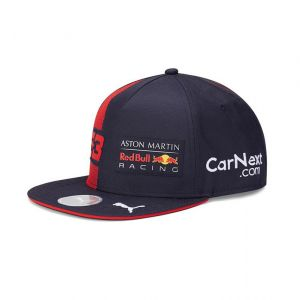 Red Bull Racing Cappellino visiera piatta blu navy da bambino Verstappen