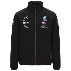Mercedes-AMG Petronas Team Softshell Jacke schwarz