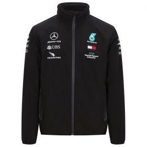 Mercedes-AMG Petronas Team Softshell Veste noir