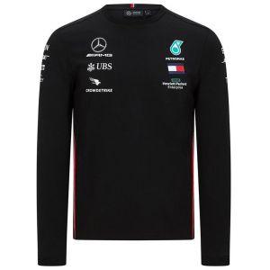Mercedes-AMG Petronas T-shirt noir à manches longues pour conducteur