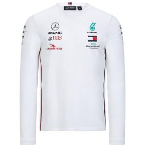 Mercedes-AMG Petronas driver long sleeve t-shirt white