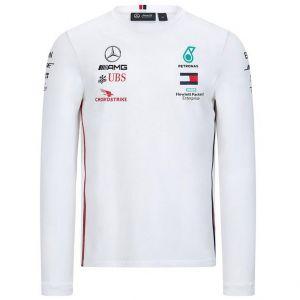 Mercedes-AMG Petronas Fahrer Langarm T-Shirt weiß