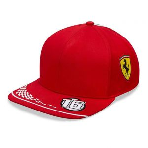 Scuderia Ferrari Gorra Piloto Leclerc roja