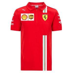 Scuderia Ferrari Polo de l'équipe homme rouge