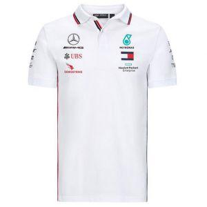Mercedes-AMG Petronas Team Sponsor Poloshirt weiß