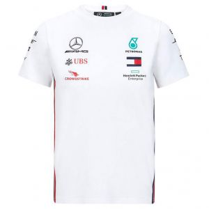 Mercedes-AMG Petronas Camiseta blanca niños Sponsors