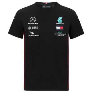 Mercedes-AMG Petronas Team Camiseta negra niños Sponsors