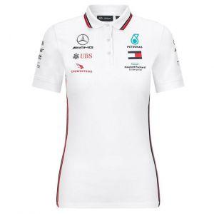 Mercedes-AMG Petronas Team Damen Sponsor Poloshirt weiß