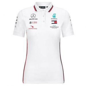 Mercedes-AMG Petronas Team Sponsor Polo blanco Mujer