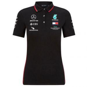 Mercedes-AMG Petronas Team Damen Sponsor Poloshirt schwarz