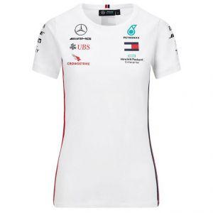 Mercedes-AMG Petronas Team Damen Sponsor T-Shirt weiß