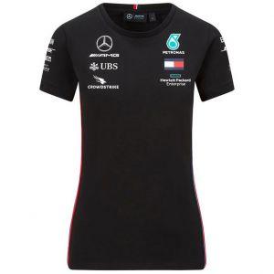 Mercedes-AMG Petronas Team Damen Sponsor T-Shirt schwarz