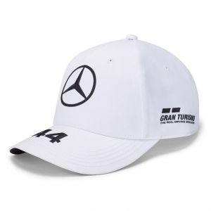 Mercedes-AMG Petronas Pilote Casquette Hamilton blanc