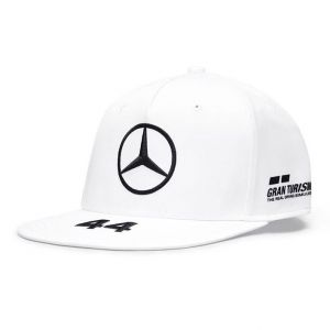Mercedes-AMG Petronas Piloto Gorra blanca Visera plana Hamilton