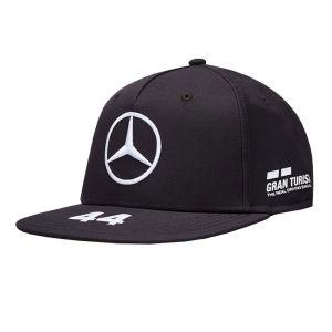 Mercedes-AMG Petronas Pilote Casquette Hamilton noir Flat Brim