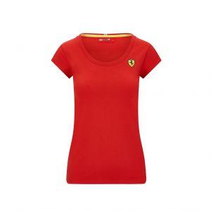 Scuderia Ferrari Damen T-Shirt kleines Logo rot