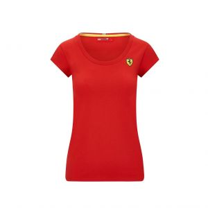 Scuderia Ferrari T-Shirt donna T-Shirt piccolo logo rosso