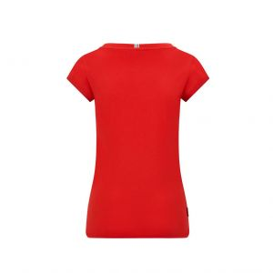 T-Shirt donna piccolo logo rosso Scuderia Ferrari