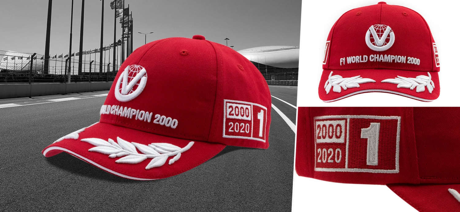 Now in stock! Michael Schumacher 2000 World Champion Cap in limited edition