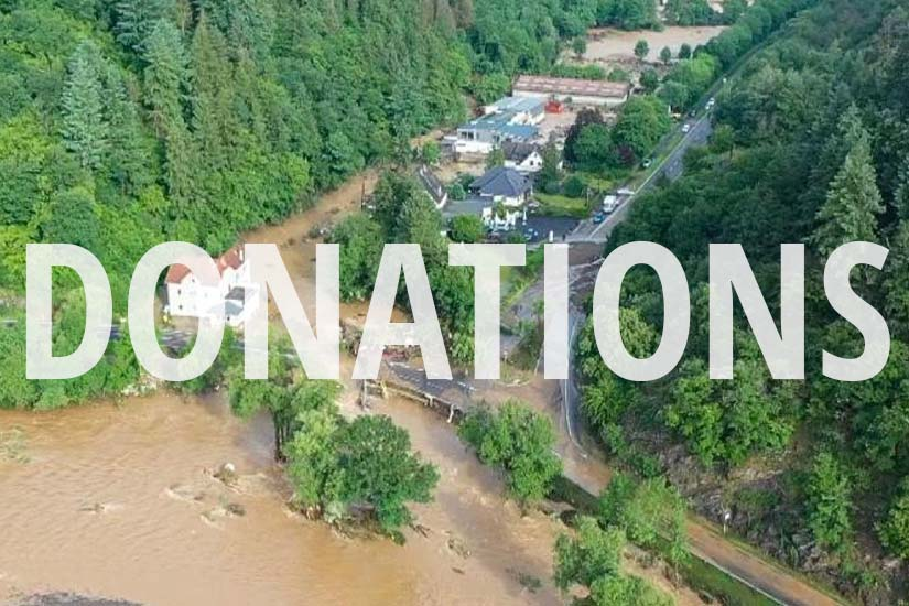 Spendet für die Opfer der Flutkatastrophe in der Eifelregion