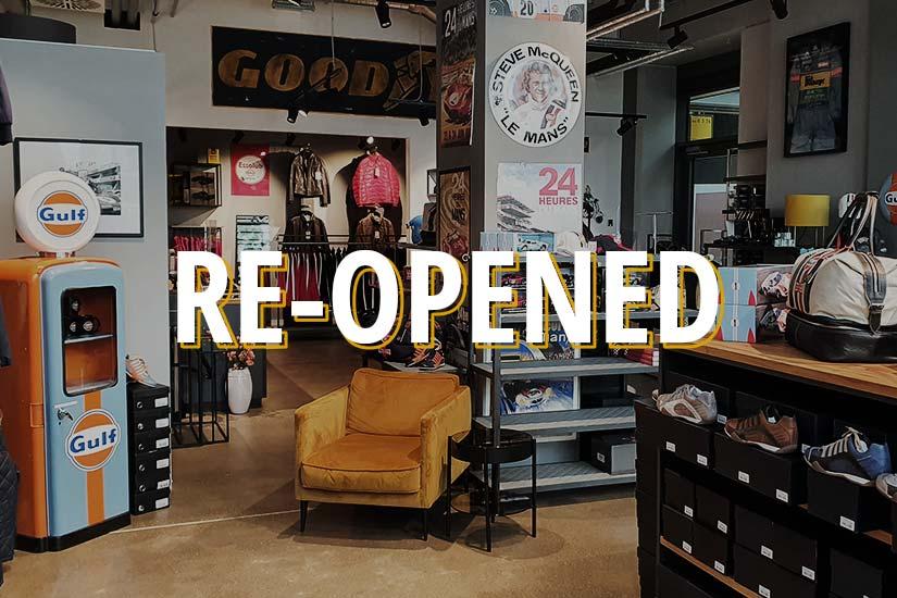 Re-opening of Paddock-Legends Store Munich
