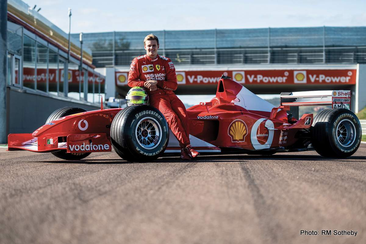 Mick Schumacher Drives His Father S Ferrari F2002