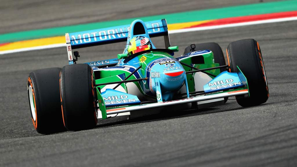 Mick Schumacher and his father's legendary Benetton B194